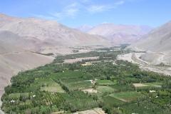 1. Vista del valle agrícola del río Tránsito, Huasco Alto.