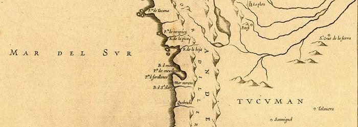 Mapa de la Audiencia de Charcas, siglo XVII.