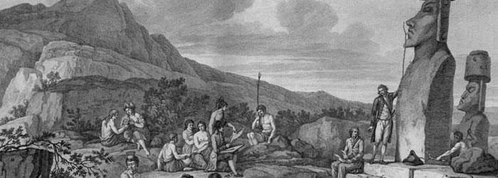 Croquis realizado durante la expedición de La Pérouse, 1786.