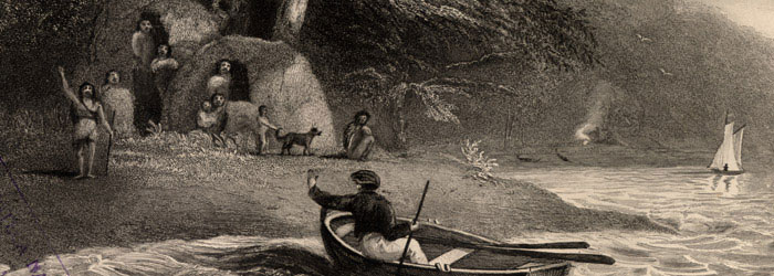 Indígenas canoeros. Canal Magdalena, 1828.