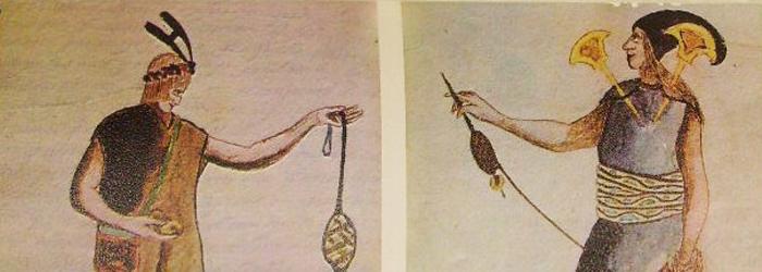 Representación de indígenas collas.