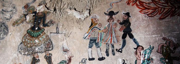 Detalle de pintura mural, siglo XVIII