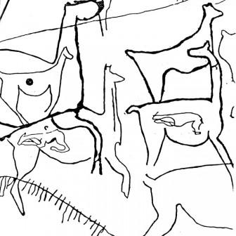 Alero San Antonio, río Loa (dibujo: J. Berenguer). (Capricornio 1999)