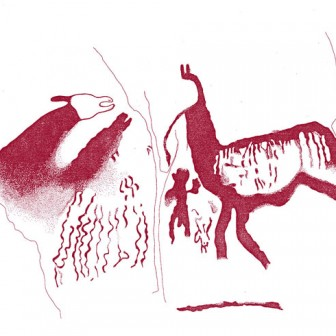 Bajada de Taira, río Loa (dibujo y foto: J. Berenguer). (Capricornio 1999)