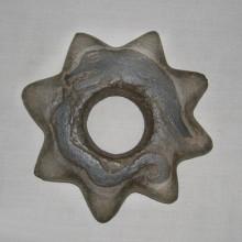 Cabezal de maza. Museo Chileno de Arte Precolombino Nº 0215. (Mapuche! 1985: )