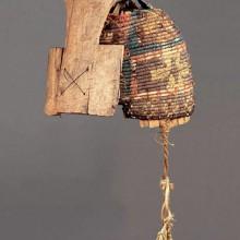 Casco, Complejo Pica-Tarapacá, 1000-1450 d.C. Museo Chileno de Arte Precolombino / Donación Santa Cruz-Yaconi Nº 1765 AB (foto Fernando Maldonado).