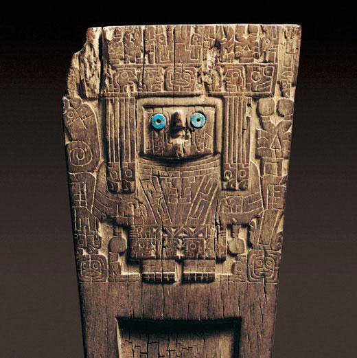 Tableta alucinógena, Tiwanaku. Cultura San Pedro, 600-900 d.C., Museo Arqueológico R. P. Gustavo Le Paige. (Tiwanaku 2000: 81)
